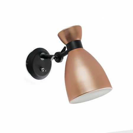 RETRO COPPER WALL LAMP 1 X E14 20W