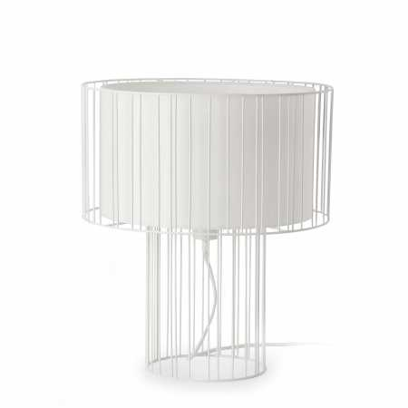 LINDA TABLE LAMP WHITE 1 x E27 100W